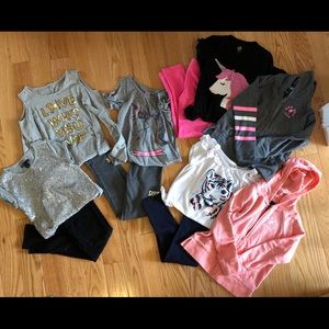 Girls Size 6/7 Gap and Justice clothing lot